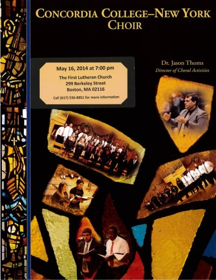 concordia college choir 2014