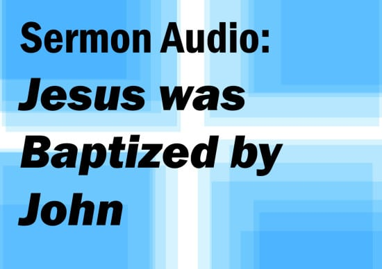 Jesus was  baptized by john