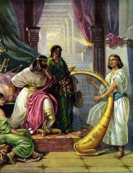 David Plays for Saul I Samuel 16:23