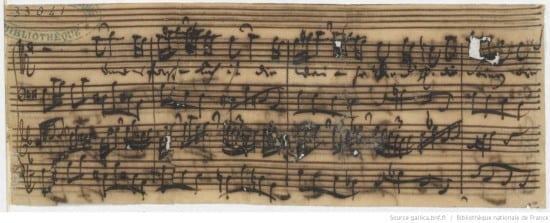 Ich habe meine Zuversicht, BWV 188 : fragment (autograph manuscript) / Johann Sebastian Bach] Bibliothèque nationale de France
