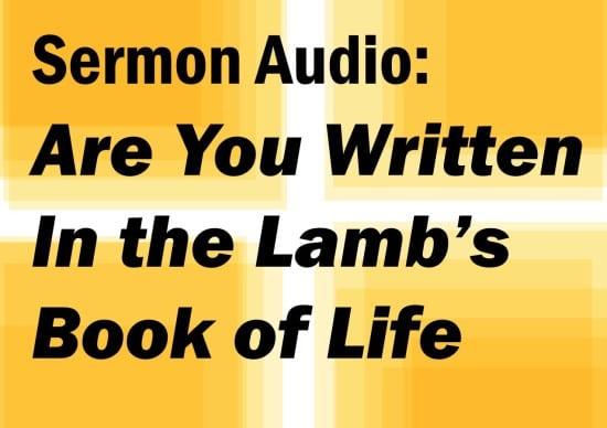 Written in the Lambs book